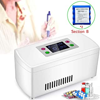 GBHJJ insulin kabinlåda, bärbar isolerande inkylare toalettlåda, LED-display medicin koskåp läkemedel kökskåpa 2–8 °C för ...