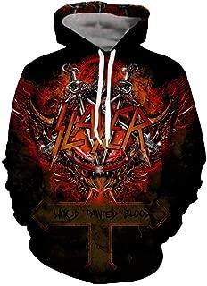 Slayer Hoodies for Men 3D Print Hooded Sweatshirts Pullover Hip Hop Rock Hoodies