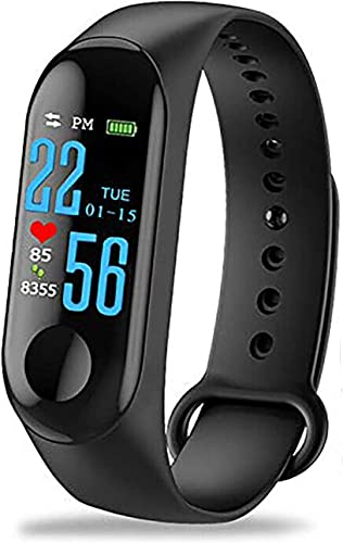 SHOPTOSHOP Sport Fitness Band Tracker Watch Heart Rate With Activity Tracker Waterproof Body Functions Like Steps Counter Calorie Counter Blood Pressure Heart Rate Monitor LED Touchscreen Black
