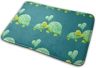 Turtle Hugs Carpet Non-Slip Welcome Front Doormat Entryway Carpet Washable Outdoor Indoor Mat Room Rug 15.7 X 23.6 inch