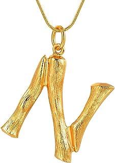 18752739d789 FOCALOOK Collar Choker de Mujer Colgante Nombre Inicial Alfabeto A-Z Diseño  Especial con Cadena Serpiente Chapado