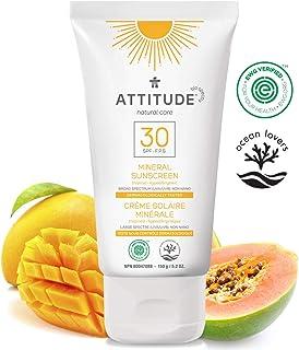 Attitude Natural Care, hypoallergenic mineral Sunscreen, Spf 30, Tropical, 5.2 Oz