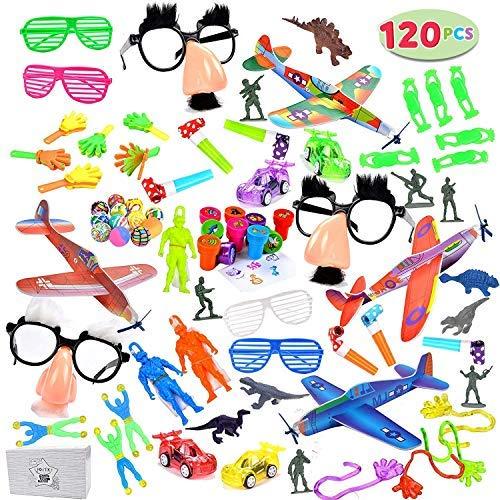 JOYIN 100pc+ Treasure Box Toys for Classroom, Party Favor Toy Assortment for Kids, Pinata Filler Toys, Carnival Prizes, Halloween Birthday Party Toys, Prize Box Toys for Kids, Easter Egg Stuffers