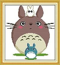 Good Value Stamped Cross Stitch Kits Beginners Kids Advanced - Totoro 13