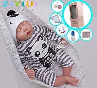 ZIYIUI Muñecas Reborn Bebé Niño 20 Pulgadas 50 cm Silicona Suave Vinilo Natural Hecho a Mano Juguetes Magnéticos Chicos Dormidos Mejores Regalos de Cumpleaños Reborn Doll