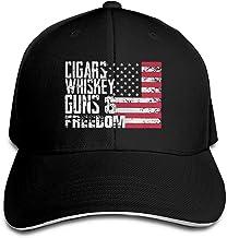Beck Roy Cigarros Whisky gu-NS y Freedom Trucker Gorra de béisbol Sombrero de sándwich con Pico Ajustable