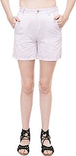 KOTTY Women's Cotton solid shorts