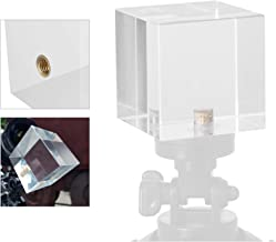 Meking Photo Photography Prism with Female 1/4 Inch, Professional Crystal Glass Cube Create Light Rainbow Effect for Camera Lens, for Photographer (50mm /2 inch)