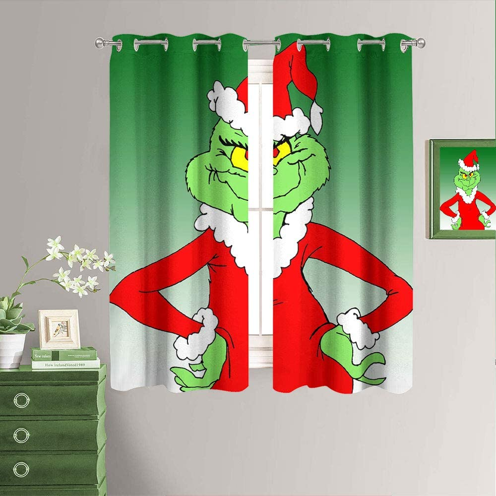 Window Curtains Blackout Drapes Award-winning store Funny Movies D New Animated free shipping Year
