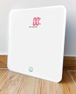 NewlineNY Auto Step On White Digital Talking Bathroom Scale, 440 Lb Capacity, SCB-TK202-WH