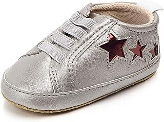 Kimloog Boys Girls Anti-Slip Hook and Loop Leather Sport Shoes Baby Sneaker