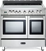 """Verona VEFSEE365DSS 36"""" Electric Double Oven Range Convection Stainless Steel"""