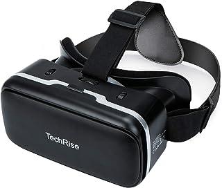 TechRise Casque VR 3D, lunettes 3D VR Boîte de réalité virtuelle avec objectif réglable et sangle confortable pour films e...
