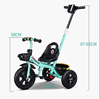 Mc369 Bicicleta de Triciclo Ligera para niños 3 en 1 sin Triciclo para niños sin instalación ( Color : Rojo )