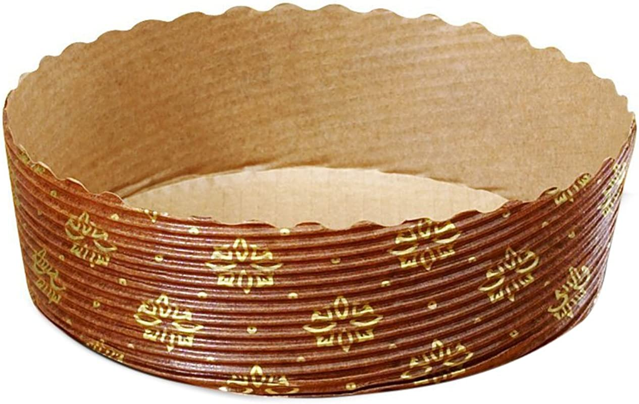 Tortina Tart Mold Use It For Your Chocolate Cakes Or Jelly Tarts Apple Pie Cherry Pie And Kind Of Pies Brown With Gold Print 4 X 1 3 Set Of 25