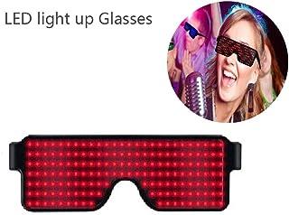 39b9e9c7bb KOBWA Gafas de Luminosas LED Neon Iluminar Gafas con 8 Modos para Fiesta de  Cumpleaños de