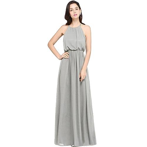 d0bd987f2 Babyonlinedress Halter Casual Maxi Dress Women's Chiffon Formal Evening  Dress