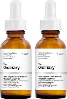 The Ordinary 100% Organic Cold-Pressed Moroccan Argan Oil 30ml (Pack of 2)