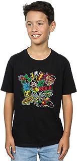 DC Comics Niños Teen Titans Go Robin Montage Camiseta