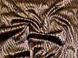 Minerva Crafts Stretch-Satin-Jacquard-Stoff, Bronze,