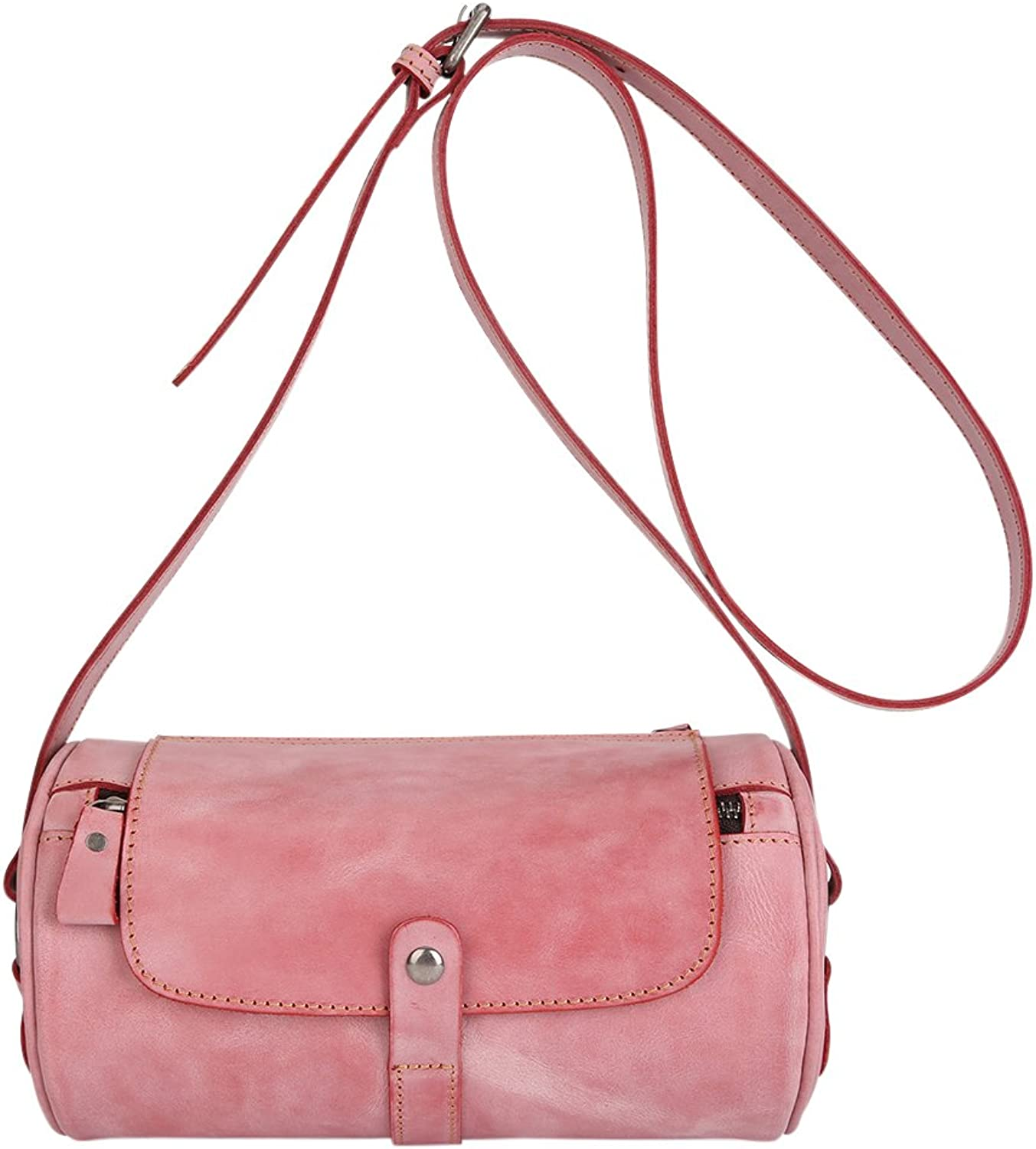 Genda 2Archer Small Leather Crossbody Purse Round Bag for Womens