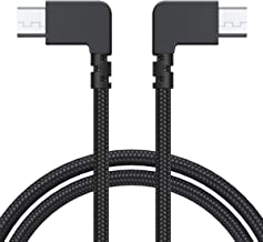 AuviPal 1ft Micro USB to Micro USB OTG Adapter Right Angle Nylon Braided Data Cable Compatible DJI Spark Mavic, Android Phone and Tablet and More