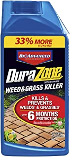 BioAdvanced 704330A DuraZone Weed & Grass Killer, Non-Selective Herbicide with 6 Months of Protection, 32-Ounce, Concentrate