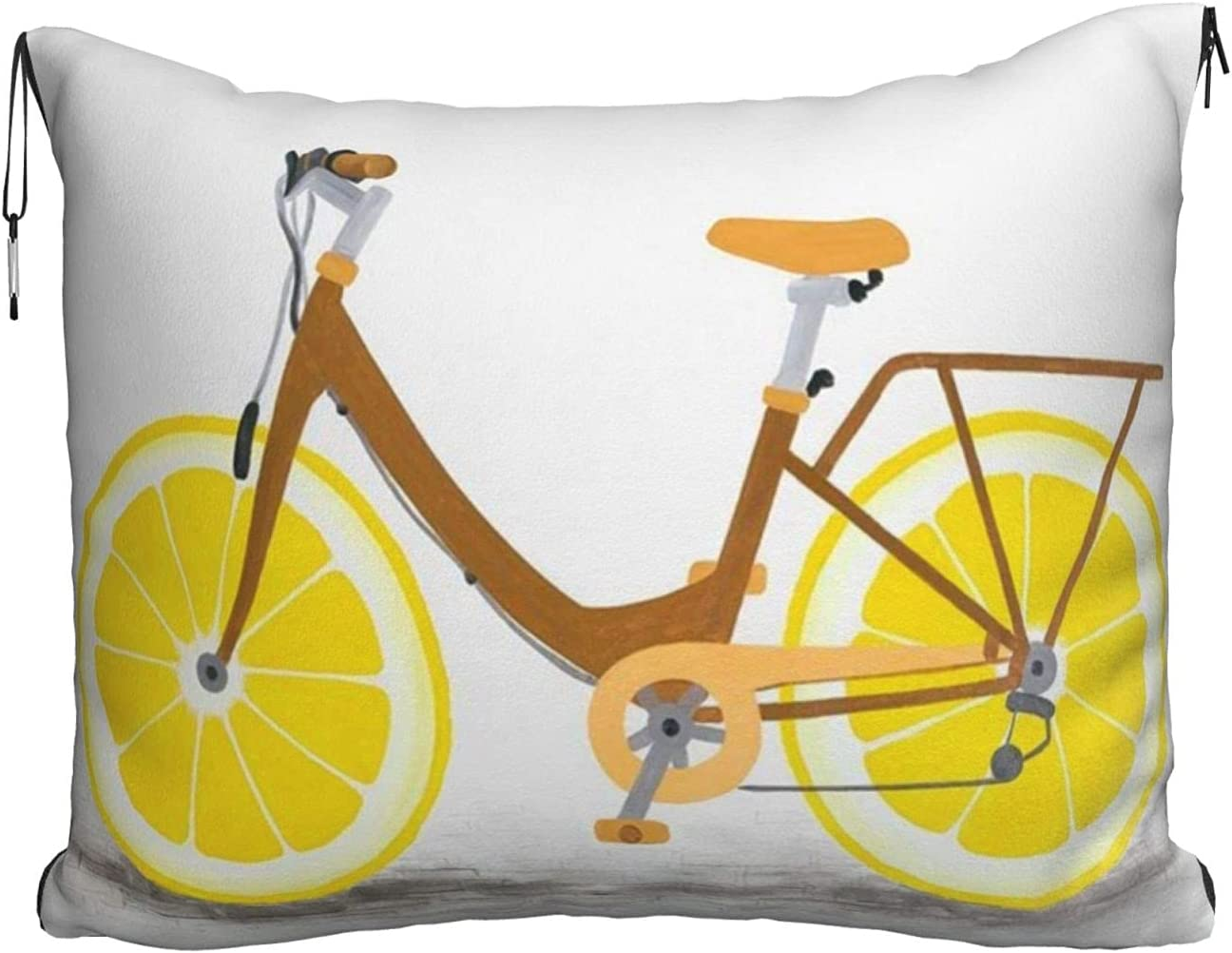 Mescchskbicycle with Very popular Lemon Wheel Print Blanket Pillow Travel Com Portland Mall