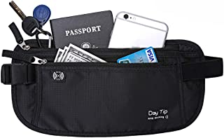 Day Tip Money Belt – Passport Holder Secure Hidden Travel Wallet with RFID..
