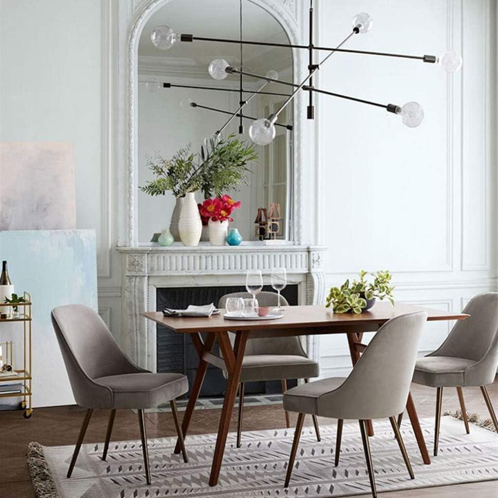 WDX- Chaise de Salle, Chaise de Bureau Simple, créative Dossier, Chaise Loisirs, Maison Adulte Chaise de Salle Confortable (Color : Yellow) Gray-a