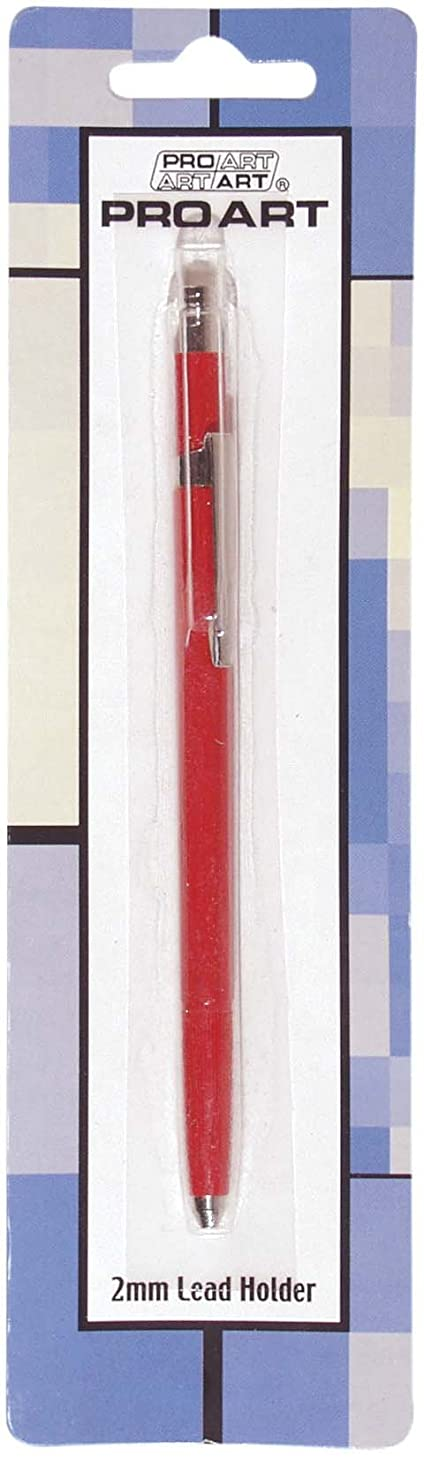 PRO ART 27624Pro Art Lead Holder 4 Grip Clutch with Metal Release Button, Assorted Color Barrel