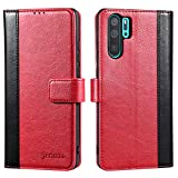 Jenuos Case For Huawei P30 Pro, Flip Leather Wallet Case