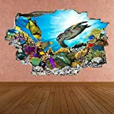 Pegatinas de pared pegatinas de arte de pared submarina calcomanía mural peces de mar acuario dormitorio de niños Bz45