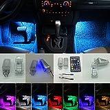 Interior del coche de color RGB LED luces de ambiente reposapiés Ambient luces LED con control remoto para A3, A4, B5, B6, B7, B8, A6, C5, C6, A5, TT, Q7, A1, A7, R8, Q3, A8, - 2pcs / set