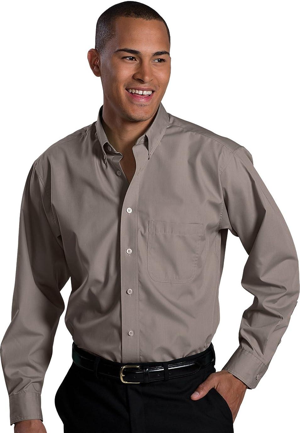 Edwards Men's Long Sleeve Soft Touch Poplin Shirt, MIST GREEN, 2XLarge