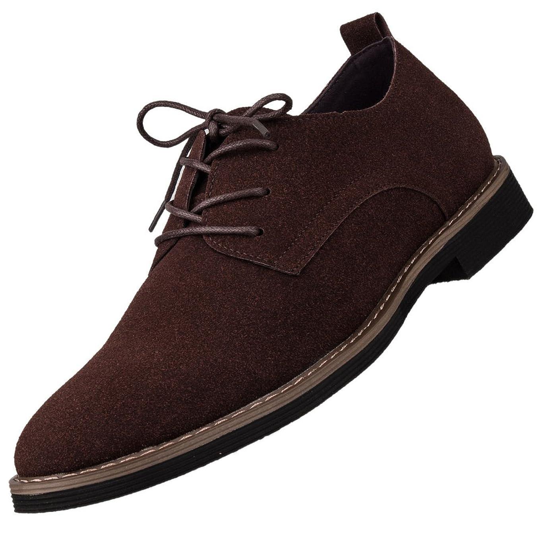 数ロマンスどんなときもカジュアルシューズ スエード メンズ ウォーキングシューズ ビジネスシューズ 靴 メンズ靴 紳士 男性 シューズ レースアップ 疲れない 通勤 通学 仕事履き軽量 防滑 抗菌 防臭 新生活 父の日24.5cm - 28.0cm