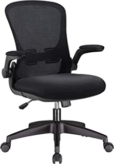Office Chair Mesh Desk Chair with Lumbar Support High Back Swivel Computer Chair Ergonomic Executive Chair with Flip-up Ar...