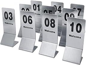 Roestvrijstalen tanknummer Kaarten, 60x40x160mm, restaurant/cafe/bar zitting tabel nummers 1-50/1-100, bruiloft verjaardag...