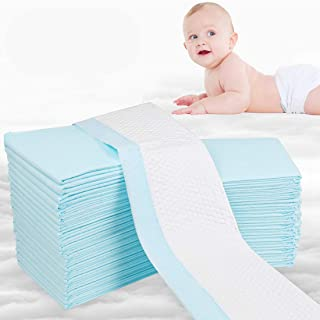 OBloved Disposable Underpads for Baby, 50 Pack(18×24 inch), Leak-Proof Breathable..