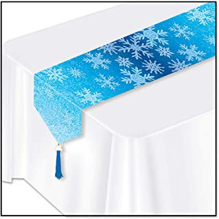Beistle 20659 Printed Snowflakes Table Runner, 11