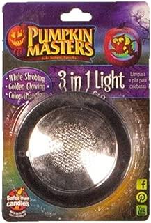 Pumpkin Masters Halloween 3 in 1 Jack O Lantern Light