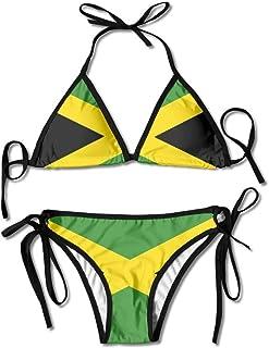 a71484fe9ed8 Jamaica Majestic Flag Women's Sexy Bikini Set Swimsuit Bathing Suit  Triangle Swimwear
