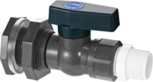 Mudder PVC Spigot Rain Barrel Faucet Kit 3/4 Inch PVC Rain Barrel Valve with Bulkhead Fitting and Hose Adapter, Rain Barrel Garden Spigot Kit for Aquariums Water Tanks Pools (Black with Dark Green)
