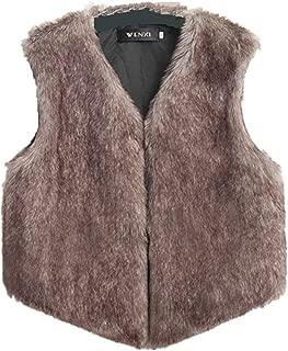 Lulupi Damen Weste Fleece /Ärmellos Winterjacke Warm Fellwest mit Stehkragen Rei/ßverschluss Pl/üschjacke Teddyfleece Jacke M/äntel