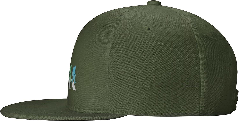 Bigfoot 4th of July American USA Flag Patriotic Flat Brim Baseball Hat Cowboy Hat Sun Hat Unisex
