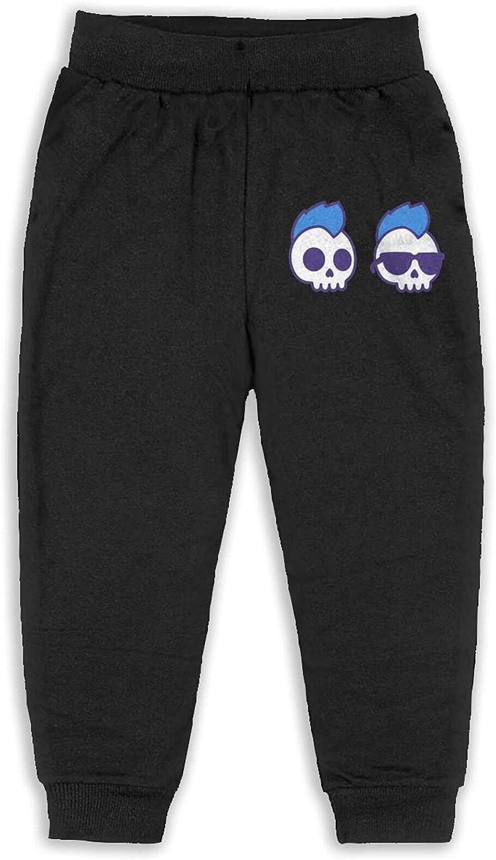 Maoyouuxian Cool Skull Boy Toddler Boy'sCotton Jogger Pants