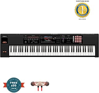 Roland 88-key Weighted-action Music Workstation (FA-08)includes Free Wireless Earbuds - Stereo Bluetooth In-ear and 1 Year Everything Music Extended Warranty