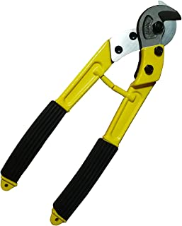 12-Inch Heavy Duty Cable Cutter High Leverage Curve Jaw,Pliers Forged from Chrome Vanadium Steel,Ideal for Cutting Coaxial Cable, Aluminum and Copper Cable