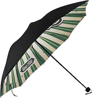 Beer Cafe Logo Dinner Burger Retro Design Art England Compact Travel Umbrella Parasol Anti Uv Foldable Umbrellas(underside Printing) As Best Present For Women Uv Protection