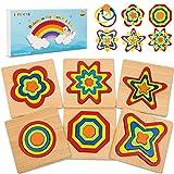 lenbest Puzzles de Madera Educativa, Puzzles de Juguetes para Niños, Infantiles Puzzles de Madera...